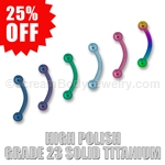Grade 23 Solid Titanium Curved Eyebrow Bar