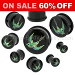 Acrylic Swallow Single Flared Plugs (1 Pair)