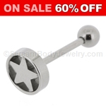 316L Surgical Steel Barbell with Star Top