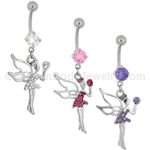 Crystal Fairy Navel Dangle