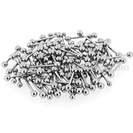 150 Pcs of 16ga 316L Surgical Stainless Steel Mixed Size Barbells