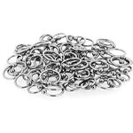 150 Pcs of 16ga 316L Surgical Stainless Steel Mixed Size Captive Bead Rings