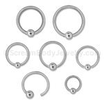 316L Surgical Steel Fixed Bead Captives (5 pack)