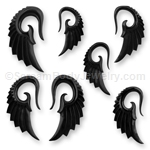 Hand Carved Horn Angel Wing Taper (1 Pair)