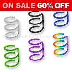 Titanium Anodized Steel Triple Hoop Cartilage Clip