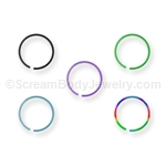 Titanium Anodized Steel Split Nose Ring