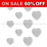 10 Pack of 316L Surgical Steel Hearts