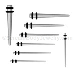 316L Surgical Steel Spike Tapers (1 Pair)