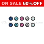 10 Pack of Blackline Titanium Anodized Snap-In Gemset Beads - Assorted Colors