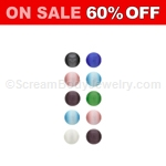 10 Pack of Snap-In Cat's Eye Beads - Assorted Colors