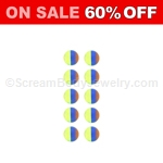 10 Pack of Acrylic Snap-In UV Rainbow Beads
