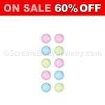 10 Pack of Acrylic Snap-In Glow in the Dark Beads